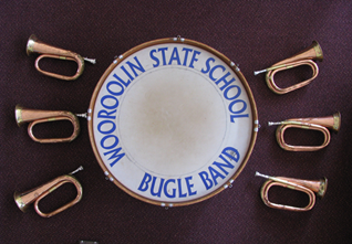 Bugle Band instruments drums and bugles
